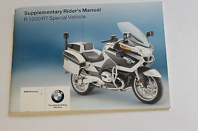 BMW R1200RT R 1200 RT Supplementary Riders Manual 01417703841