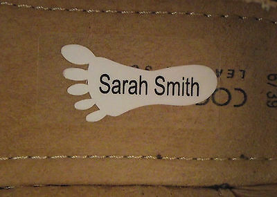 Shoe Labels.Personalised Shoe Labels/Funky Feet 5, 10 or 15 Pairs.
