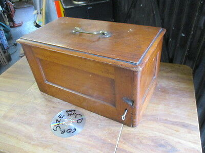 Vintage  Wooden  Box  /  Case.  Possibly Originally For Sewing Machine.