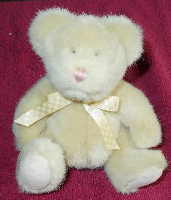 "Sweet Baby Boyds Collection Cream Yellow Teddy Bear 6"" Plush Soft Toy Free Ukp&p"