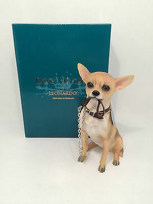 Dog Studies Large Chihuahua Walkies Figurine Ornament *BRAND NEW BOXED*