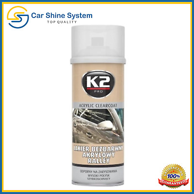 K2 Clear Top Coat Acrylic Rally Lacquer Varnish Car High Gloss Fast Dry Spray