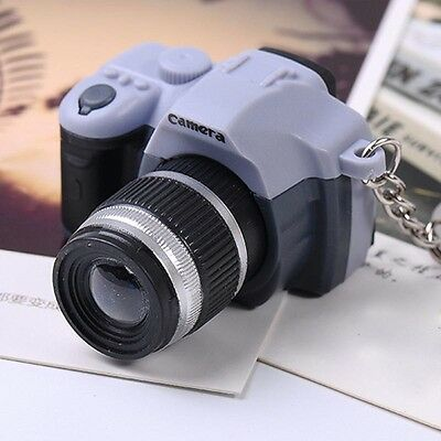 New Lovely Camera With Flash Light Lucky Charm LED Luminous Keychains Top
