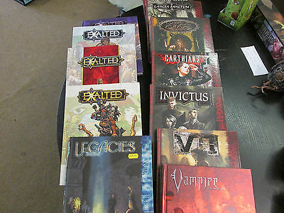 White Wolf Roleplaying Game Books Vampire, World of Darkness Exalted RPG