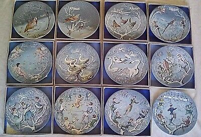 Haviland 12 DAYS OF CHRISTMAS Complete set of 12 Collector Plates A+ CONDITION