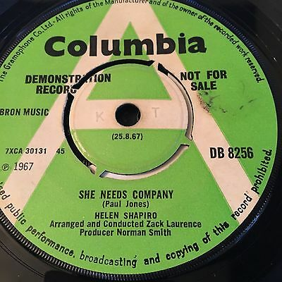 Helen Shapiro 'she Needs Company/stop(And You Will) 60's Rare Northern Soul