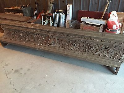 Old Detailed Oak Mantle Mansion Find 11ft Salvage