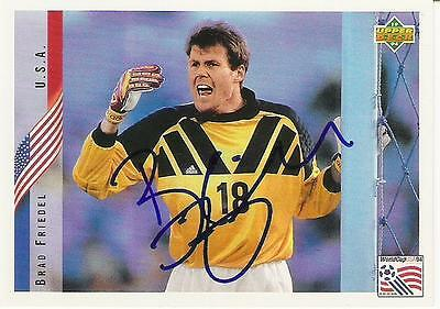 An Upper Deck World Cup USA 1994 card signed by Brad Friedel of U.S.A..
