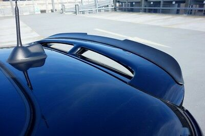 Mini R56 S/JCW 100 Limited Hatch Upper Rear Roof Spoiler Extension Lip Wing_Trim