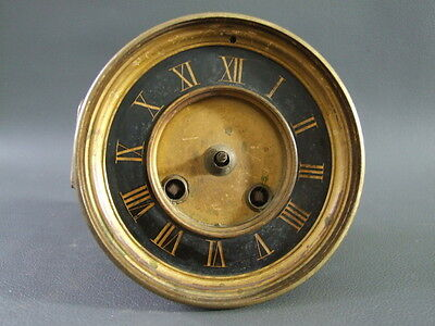 Antique French clock movement dial and bezel  - spares or parts