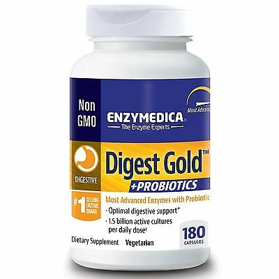 Digest Gold + Probiotics 180 Capsules by Enzymedica **FREE SHIPPING**
