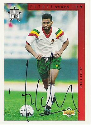 An Upper Deck Future Stars 1994 card signed by Helder of Portugal.