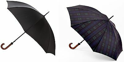 Fulton Huntsman Mens Classic Stick Walking Length Umbrella with Wood Handle