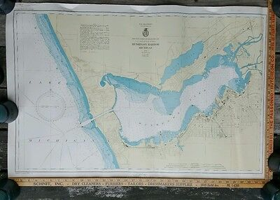 Muskegon Harbor Michigan 1945 Polyconic Projection 24x36 US War Department