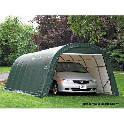 Shelterlogic Green Boat Car Storage Round Style Shelter 12' x 28' x 8'  / 76642
