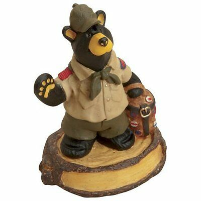NEW IN BOX BEARFOOTS BEAR  BY JEFF FLEMING - Bearfoots Bear Scout Mini Figurine