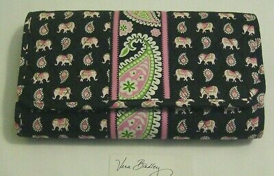 Vera Bradley PINK ELEPHANTS CD DvD Case 4 Car END TABLE Any Room VERY RARE NWOT