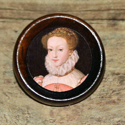 Tudor history MARY QUEEN of SCOTS Altered Art Tie Tack or Ring or Brooch pin