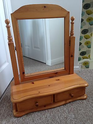 Solid Pine Dressing Table Mirror With Draws