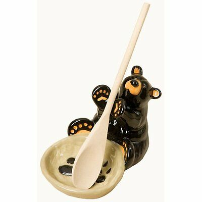 NEW IN BOX BEARFOOTS BEAR  BY JEFF FLEMING - Spoonrest Spoon Rest Utensil Holder