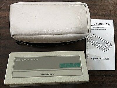 X-Rite 334 Battery Operated Sensitometer Densitometer With New Batteries
