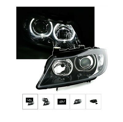 2 Feux Phare Avant Angel Eyes Led Bmw Serie 3 E90 E91 Berline Touring 2005-2008