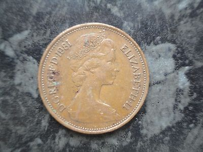Rare 1981 New Pence 2P Coin