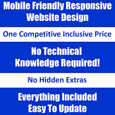 Professional Responsive Mobile Friendly Website Free Domain, Hosting and Support