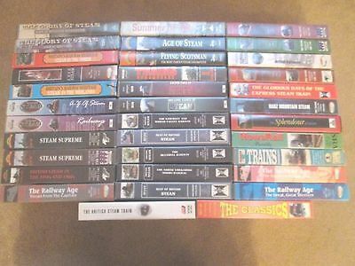35x  STEAM RAILWAY COLLECTION OF  VHS VIDEO CASSETTES