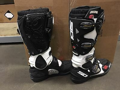 SIDI Crossfire SRS Gently Used Boots White / Black US 9.5 EURO 43