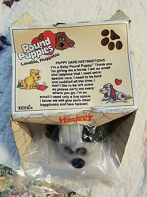 """Hardees Promotional Pound Puppy by Tonka 1986 7"""" Long NIB Never Opened"""