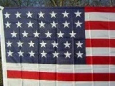 3x5 ft 34 STAR UNION CIVIL WAR United States FLAG 1861-1863 Print Polyester
