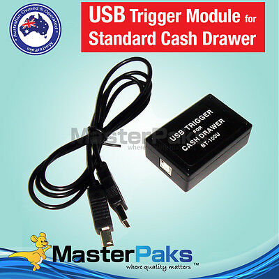 USB Trigger Module for Standard Cash Drawers For Windows Mac PC POS RJ12/RJ11