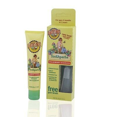 Earth`s Best Organic Kids Organic Strawberry & Banana Toothpaste 45g - Natural