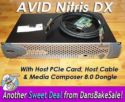 Avid Nitris Dx w/ Host PCIe Card, Cable & Media Composer 8.0 Dongle HD SD Tested