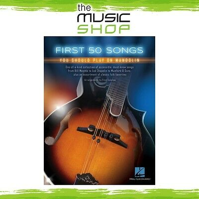 New First 50 Songs You Should Play on Mandolin Music Book - Easy Mandolin