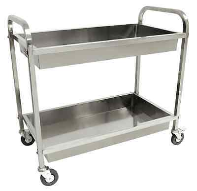 Bayou Classic Stainless Steel Serving Cart Versatile Charm Resilience 4-Swivel