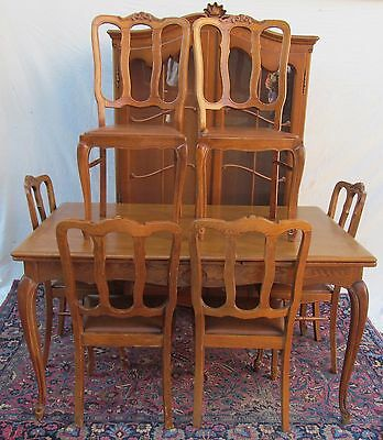 Antique French Oak Parquetry Inlaid Dining Room Set-Huge Value!!!