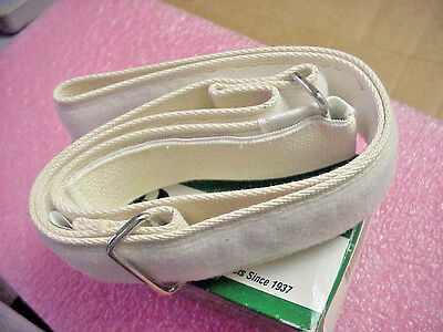 "Posey 6524V E-Zee Gait Belt W/ Hook And Loop Closure, 2"" Wide, White, 24"" To 52"""