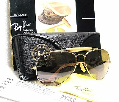 """Ray-Ban *mint 1987 Vintage B&l Aviator """"the General"""" Rb-50 W0364 Sunglasses&case"""