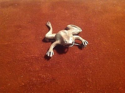 Vintage Silver 925 Frog Pin