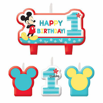 Mickey Mouse 1st Birthday Candle Set Party Supplies Baby Mickey First Cake Decor