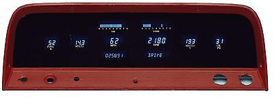 1964 65 66 Chevrolet C10 Truck Dakota Digital VFD3 Blue & Teal Digital Gauge Kit