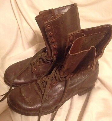 WW2 Era Pilot Service LEATHER COMBAT BOOTS Shoes RARE Bomber  AAF AAC USAF