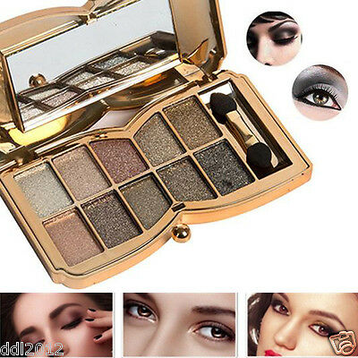 10 Colors Professional Shimmer Eye shadow Eyeshadow Palette Makeup Cosmetic Set