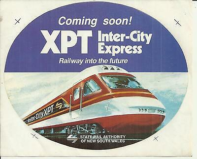 State Rail Authority Coming Soon Xpt Inercity Express Railway Sticker
