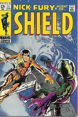 Nick Fury, Agent of SHIELD Comic Book #11, Marvel Comics 1969 VERY FINE
