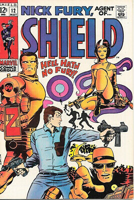 Nick Fury, Agent of SHIELD Comic Book #12, Marvel Comics 1969 FINE+