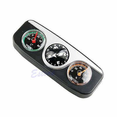 3in1 Guide Ball Navigation Compass Car Boat Vehicles Auto Hygrometer Thermometer