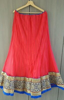 Indian Party Wear Designer Bollywood Lengha choli saree with bloues pice.